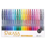 ゼブラ ジェルボールペン サラサクリップ 0.5 20色 JJ15-20CA