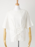 ウエストレースアップTシャツ オフホワイト