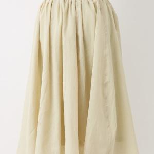 ウエストギャザースカート ライトグリーン