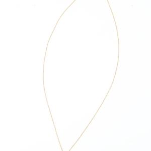 Wリングネックレス ゴールド×ホワイト
