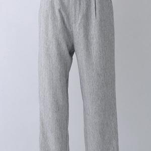 MIX織りテーパードパンツ 杢グレー